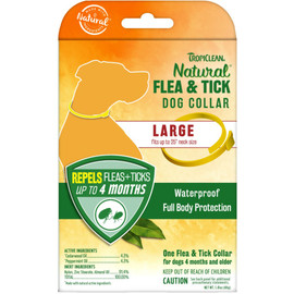 TropiClean Natural Flea & Tick Large Dog Collar - Front