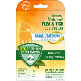 TropiClean Natural Flea & Tick Small/Medium Dog Collar - Front