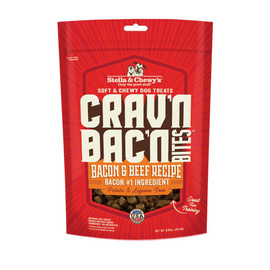Stella & Chewy's Crav'n Bac'n Bites Bacon & Beef Recipe Dog Treats - Front