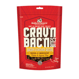 Stella & Chewy's Crav'n Bac'n Bites Bacon & Chicken Recipe Dog Treats - Front