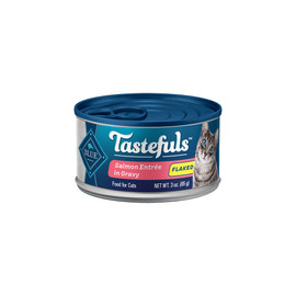 Blue Tastefuls Flaked Salmon Entrée in Gravy Canned Cat Food - Front