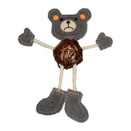 Cat-itude Teddy Bear Catnip Cat Toy - Front