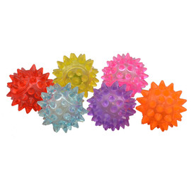 Amazing Pet Products Spikey Light Up Cat Ball, Color Varies - Front