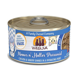 Weruva Meows n' Holler PurrAmid with Chicken and Shrimp Canned Cat Food - Front