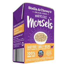 Stella & Chewy's Marvelous Morsels Cage-Free Turkey Recipe Wet Cat Food - Front
