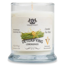 "Gerrard Larriett ""Detoxifying Lemongrass"" Deodorizing Soy Candle - Front"