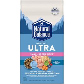 Natural Balance Original Ultra Chicken & Barley Small Breed Bites Formula Dry Dog Food - Front