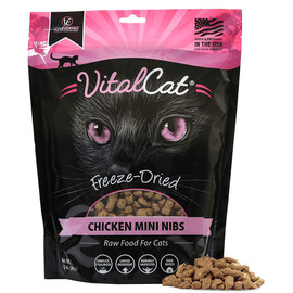 Vital Essentials Chicken Mini Nibs Freeze-Dried Grain Free Cat Food - Front