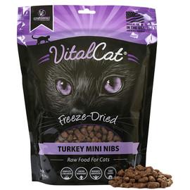 Vital Essentials Turkey Mini Nibs Freeze-Dried Grain Free Cat Food - Front