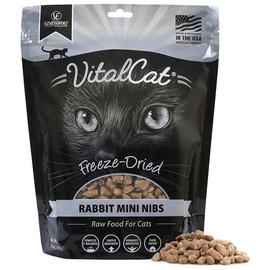 Vital Essentials Rabbit Mini Nibs Freeze-Dried Grain Free Cat Food - Front