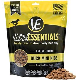 Vital Essentials Duck Mini Nibs Freeze-Dried Grain Free Dog Food - Front