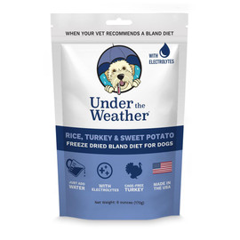 Under The Weather Rice, Turkey & Sweet Potato Freeze Dried Bland Dog Food - Front