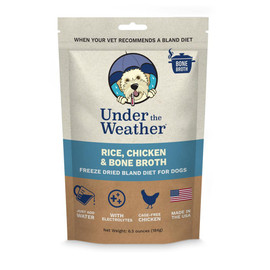 Under The Weather Rice, Chicken, & Bone Broth Freeze Dried Bland Dog Food - Front