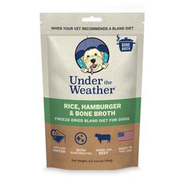 Under The Weather Rice, Hamburger & Bone Broth Freeze Dried Bland Dog Food - Front