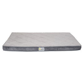 BeOneBreed Ortho Diamond Grey Dog Bed - Front