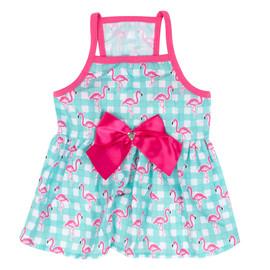 SimplyShe Flamingo Dog Dress - Front