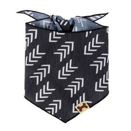 SimplyShe Black Flying V Print Dog Bandana - Front