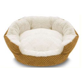 Pure Comfort Clamshell Marigold Pet Bed - Front