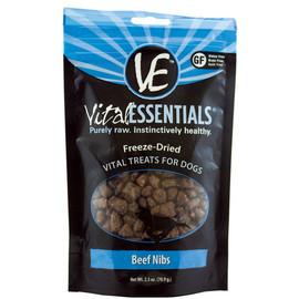 Vital Essentials Beef Nibs Freeze-Dried Dog Treats - Front