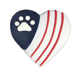 Pawsitively Gourmet Paw & Stripes Heart Dog Cookie - Front