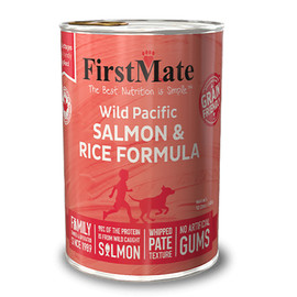 FirstMate Limited Ingredient Wild Pacific Salmon & Rice Formula Canned Dog Food - Front