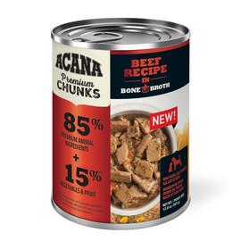 Acana Premium Chunks Beef Recipe in Bone Broth Canned Dog Food - Front