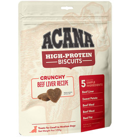 Acana High-Protein Biscuits Crunchy Beef Liver Recipe Dog Treats - Small/ Medium