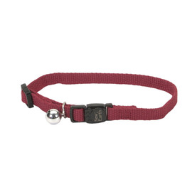 New Earth Soy Adjustable Breakaway Cat Collar - Cranberry