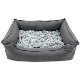 Pure Comfort Rectangular Cuddler Dig-In Dog Bed - Front