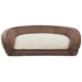 JLA Pets Brown Couch Cuddler Dog Bed - Front
