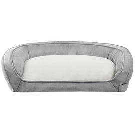 JLA Pets Gray Couch Cuddler Dog Bed - Front