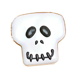 Pawsitively Gourmet Halloween Spooky Skull Dog Cookie - Front