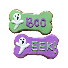 Pawsitively Gourmet Halloween Bone Dog Cookie, Assorted - Front
