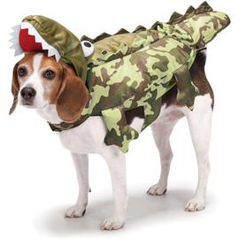 Zack & Zoey Halloween Alligator Dog Costume - Front