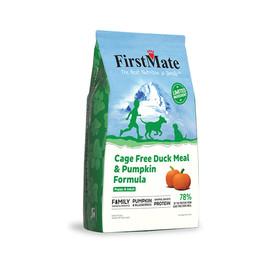 FirstMate Limited Ingredient Cage Free Duck Meal & Pumpkin Formula Dry Dog Food - Front, 5lb Bag