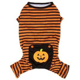 SimplyDog Halloween Pumpkin Dog Pajamas - Front