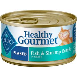 Blue Healthy Gourmet Adult Flaked Fish & Shrimp Entrée Canned Cat Food