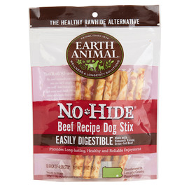 Earth Animal No-Hide Beef Stix Dog Chew Treats