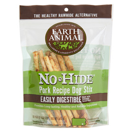 Earth Animal No-Hide Pork Stix Dog Chew Treats
