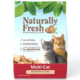 Naturally Fresh Multi-Cat Quick-Clumping Formula Cat Litter - Front, 26 lb