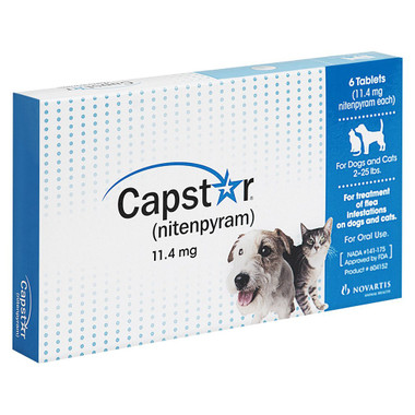 Capstar Oral Flea Treatment Tablets for Dogs and Cats 2-25lbs
