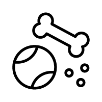 Icon of a bone and a ball