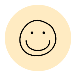 Icon of a smiley face