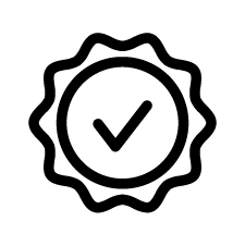 Icon of badge with checkmark