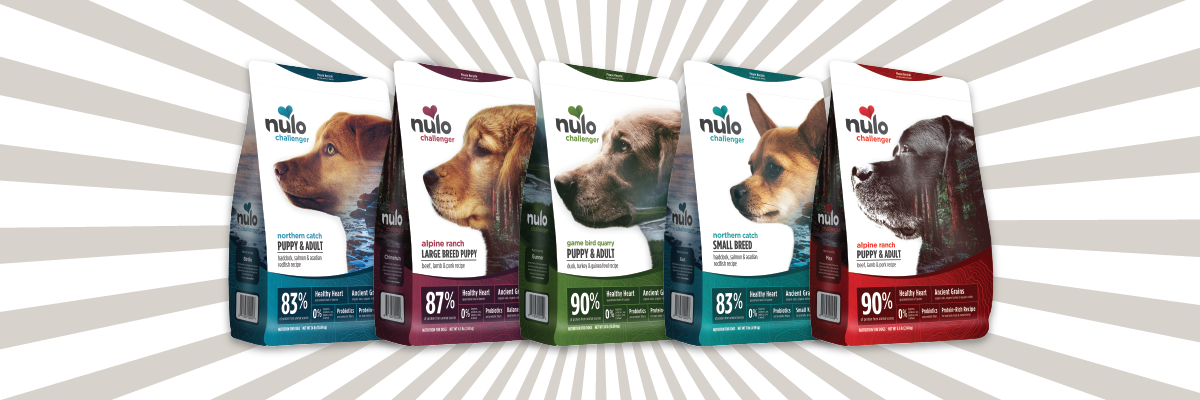 Bags of Nulo Challenger Dog Food