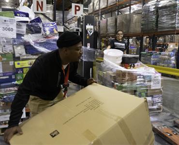 employee working in warehouse