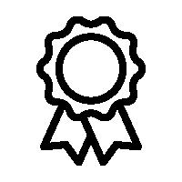 Icon of a ribbon