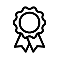 Icon of a badge
