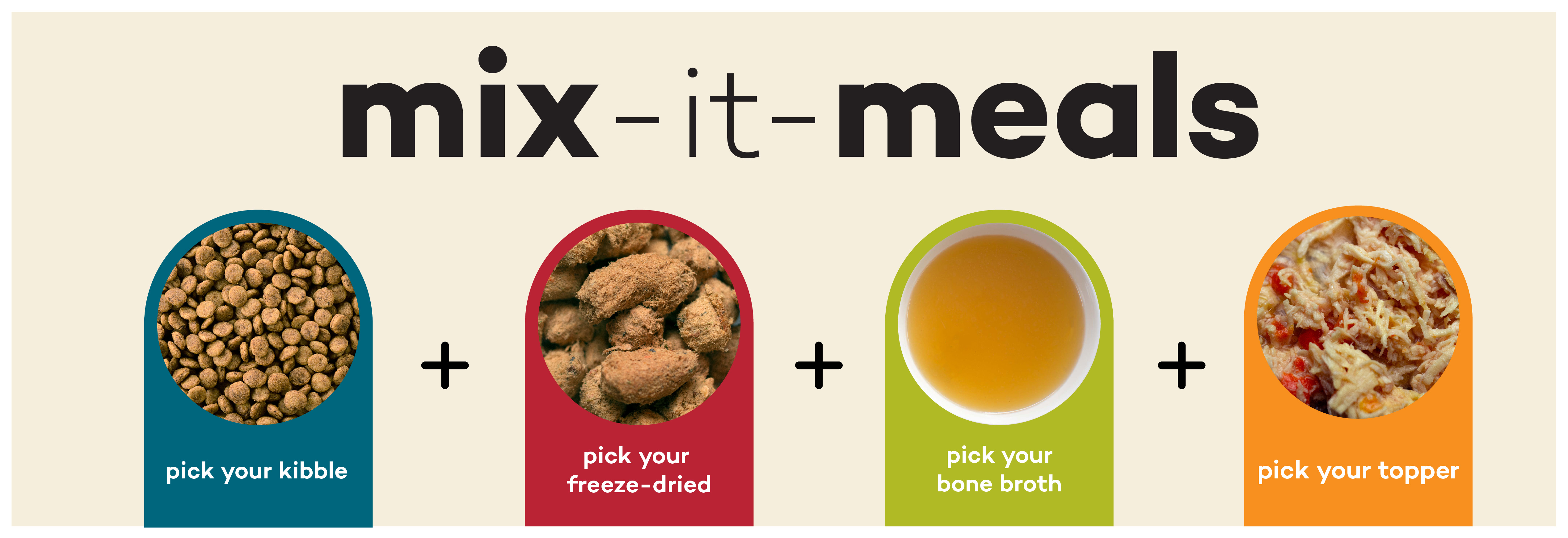 Click here to learn about mix-and-match foods