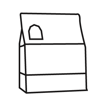 drawing of a kibble container